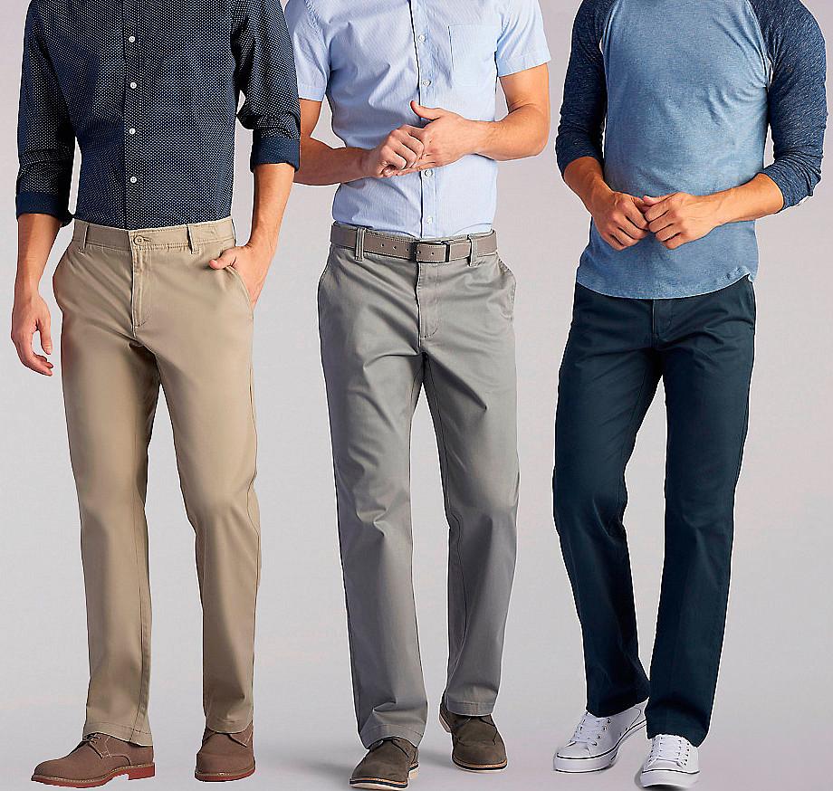 Классические мужские брюки прямого кроя на каждый день Lee Men's X-Treme Comfort Khaki Pant