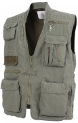 Rothco Deluxe Safari Outback Vest Olive Drab - 7580sale
