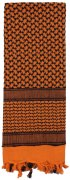 Rothco Shemagh Tactical Desert Scarf Orange / Black - 8537