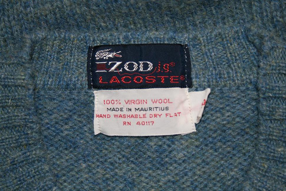 Оригинальный лейбл Izod Lacoste c Vintage Swag Chics