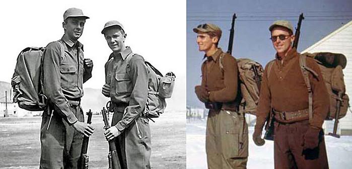 Рюкзаки в период второй мировой войны. Изображение от Pad and Quill.