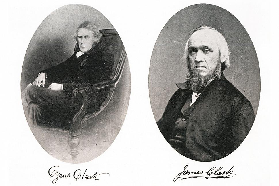 Сайрус (слева) и Джеймс (справа) Кларк. Изображение c Alfred Gillett Trust