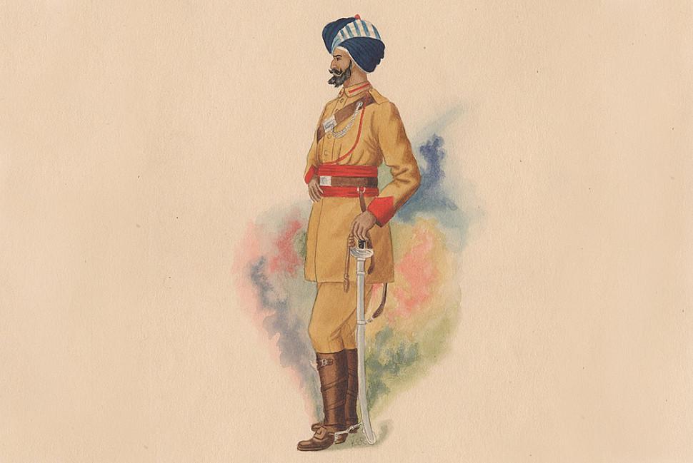 Собственный корпус охраны королевы Виктории (Боевой пограничник полка Люмсдена) в. 1910 г. К.Э. Роза