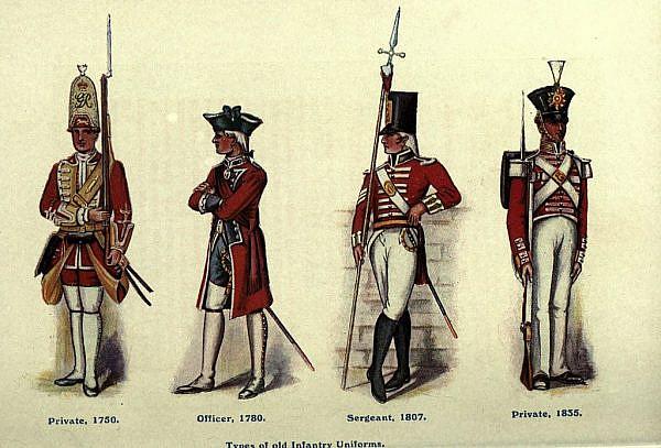 Британская пехота. Изображение с Cjsmenswear