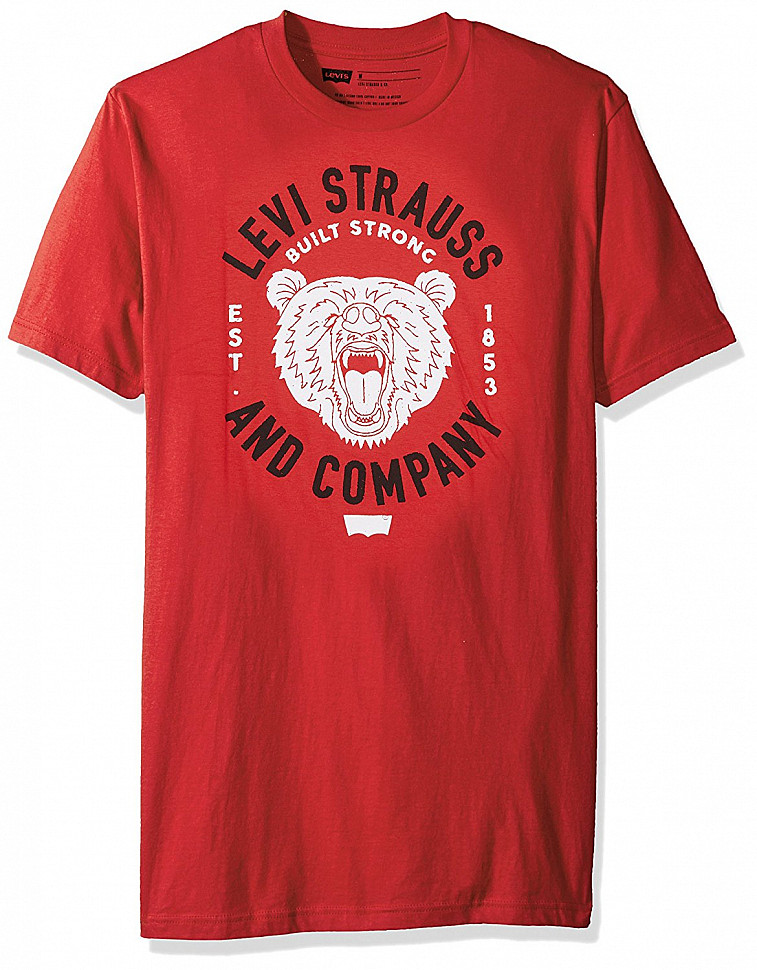 Levis Mens Juggler T-Shirt Red