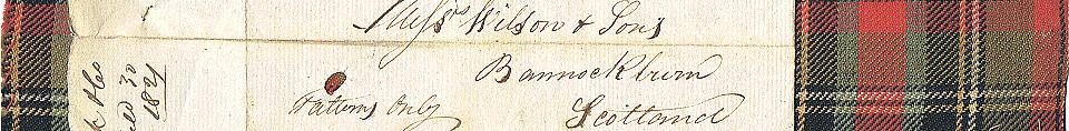 Уильям Уилсон и сыновья, Бэннокберн (через Власть Тартанов)