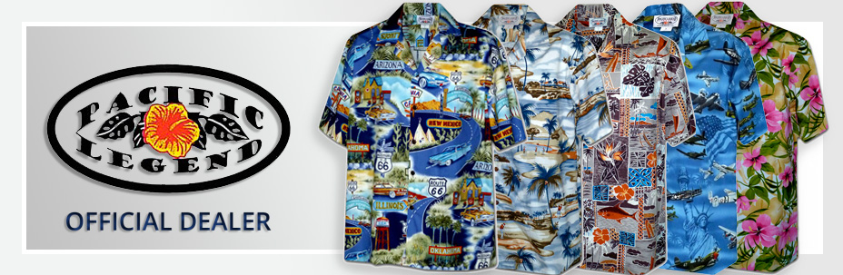 Рубашки гавайские Pacific Legend 410 Men Hawaiian Shirts