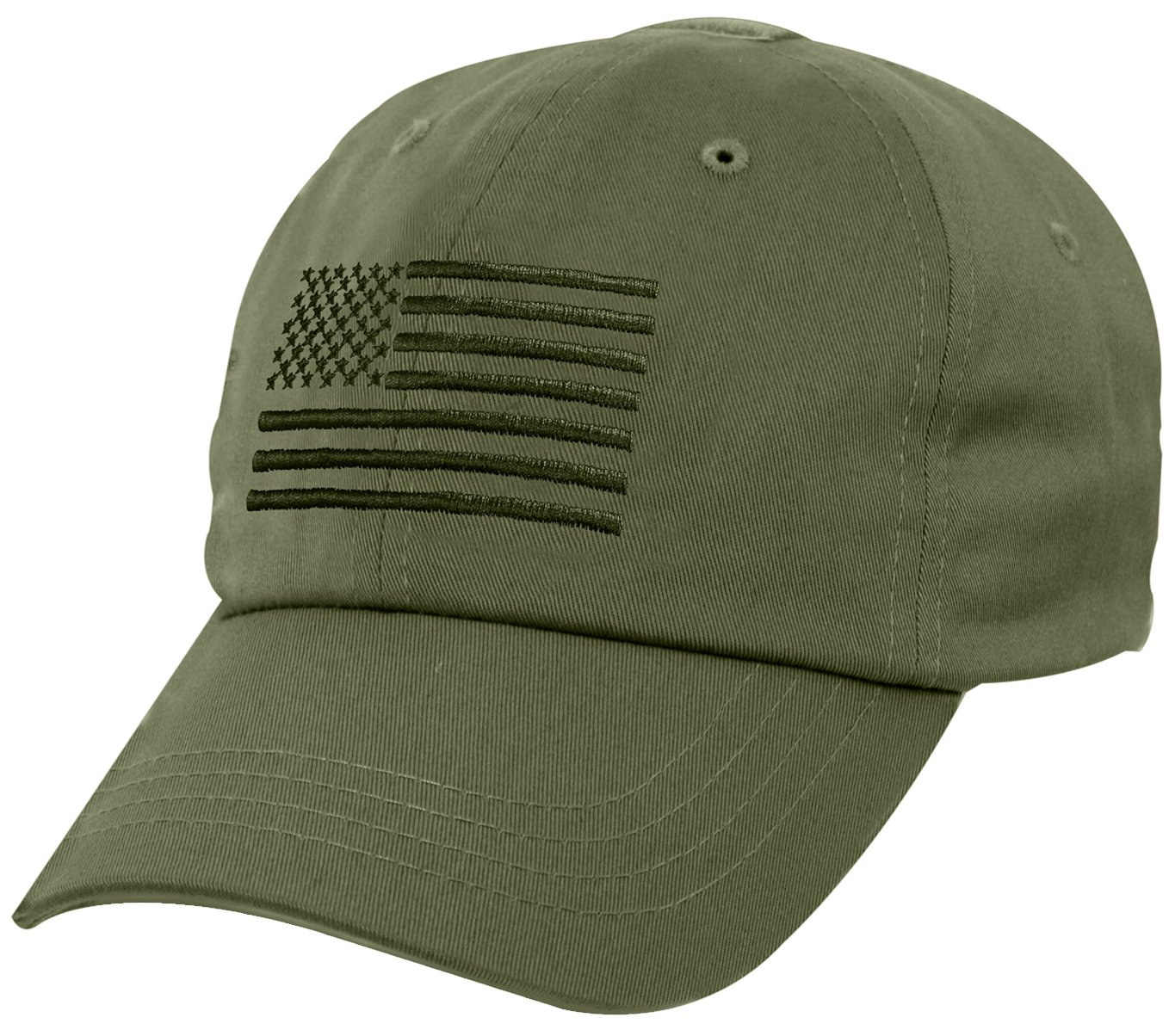 Тактическая бейсболка Rothco Tactical Operator Cap With US Flag Olive Drab 4633