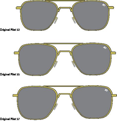 Визуальные отличия по моделям очков пилота и дженерал