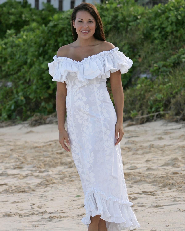Женские гавайские длинные просторные платья в стиле muumuu с цветами плюмерии и гибискуса производства США