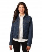 Port Authority Ladies Denim Jacket Denim Blue L7620