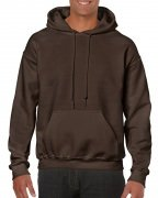 Gildan Mens Hooded Sweatshirt Dark Chocolate