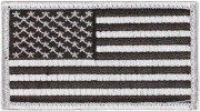 Rothco U.S. Flag Patch - Silver / Forward (77 x 51 мм) 1666