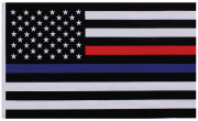 Rothco Thin Blue and Thin Red Line Flag 14456