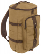 "Rothco Convertible 19"" Canvas Duffle/Backpack Coyote / Brown 2225"