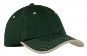 Port Authority Vintage Washed Contrast Stitch Cap Hunter/ Stone