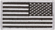 Rothco U.S. Flag Patch - Silver / Reverse (77 x 51 мм) 16666
