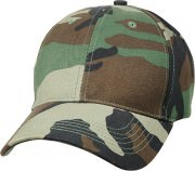 Rothco Supreme Camo Low Profile Cap Woodland Camo 8225