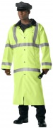 Rothco Hooded Reflective Rain Parka Safety Green - 3905