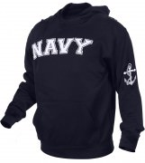 Rothco Military Embroidered Pullover Hoodies Navy Blue / NAVY