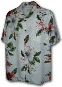 Paradise Motion Men's Rayon Hawaiian Shirts 470-111 White