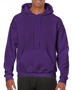 Gildan Mens Hooded Sweatshirt Purple