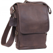 Rothco Leather Military Tech Bag Brown - 57950