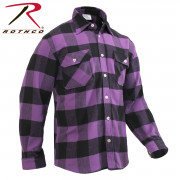 Rothco Buffalo Plaid Flannel Shirt Purple 3989