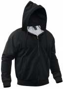 Rothco Thermal Lined Hooded Sweatshirt Black - 6260