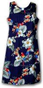 Pacific Legend Hawaiian Short Tank Dress - 315-3373 Navy