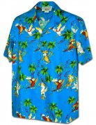 Pacific Legend Men's Hawaiian Shirts 410-3952 Blue