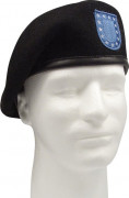 Rothco Inspection Ready Black Beret With Flash 4919