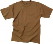 Rothco T-Shirt Poly/Cotton Brown 6848