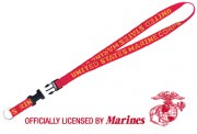 Rothco Military Neck Strap Key Rings Red USMC 2700