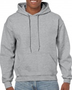 Gildan Mens Hooded Sweatshirt Sport Grey