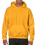 Gildan Mens Hooded Sweatshirt Gold