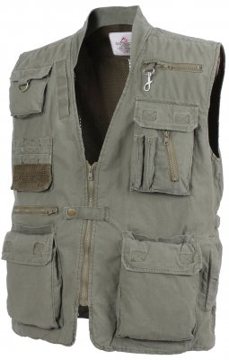 Скидка! Rothco Deluxe Safari Outback Vest Olive Drab 7580 sale, фото