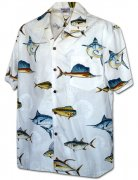 Pacific Legend Men's Hawaiian Shirts 410-3934 White