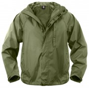 Rothco Packable Rain Jacket Olive Drab - 3854