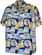 Men's Hawaiian Shirts Allover Prints - 410-3858 Blue