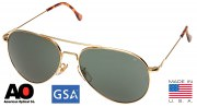 American Optical General Polarized Sunglasses 58mm Gold Frame 10712