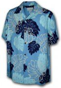 Paradise Motion Men's Rayon Hawaiian Shirts 470-109 Blue