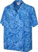 Men's Hawaiian Shirts Allover Prints 410-3868 Blue