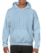 Gildan Mens Hooded Sweatshirt Light Blue