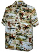 Pacific Legend Men's Hawaiian Shirts 410-3936 Khaki