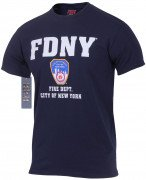 Officially Licensed FDNY T-shirt Navy Blue 6647