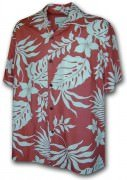 Paradise Motion Men's Rayon Hawaiian Shirts 470-107 Salmon