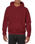 Gildan Mens Hooded Sweatshirt Garnet