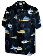 Pacific Legend Men's Hawaiian Shirts 410-3934 Black