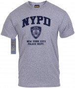 Officially Licensed NYPD Physical Training T-Shirt Grey 6650